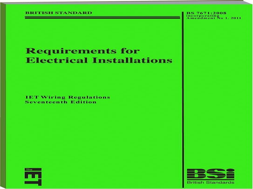 bs7671 17th edition amendment 1 update information my local 17th edition  amendment 1 is now published