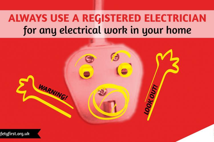 Electrical safety by using an electrician