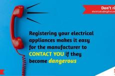 Electrical Safety First Register your electrical appliance